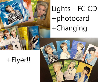 BTS Lights/Boy With Luv Official Set of 5 Cds w/photo Changing Jacket flyer