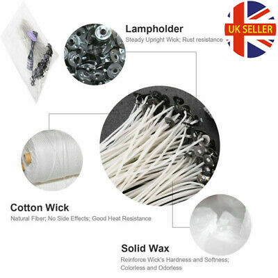 Pre Waxed Candle Wicks 100Pcs 15cm Long for Candle Making with Sustainers UK