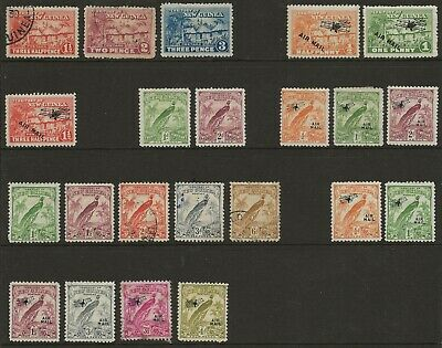 NEW GUINEA  MINT & USED COLL.  1925/32 BETWEEN SG 126a & SG 194a  MAINLY FINE