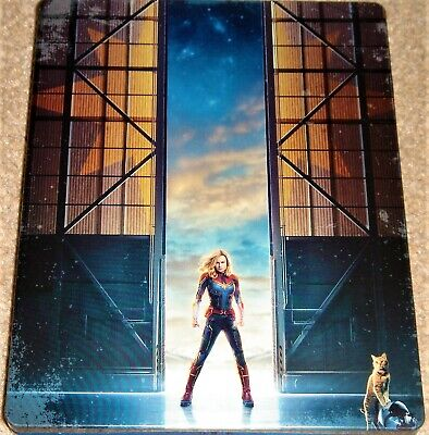 Captain Marvel 3D+2D Steelbook /Region Free Blu Ray / Import /WORLDWIDE SHIPPING