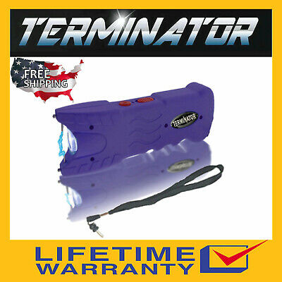 Terminator Police Stun GunSGT916 82 BV Max Power Safety Pin Blinding Flashlight