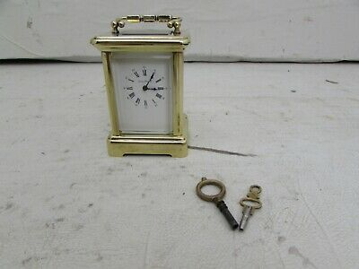 Miniature French Carriage Clock Retailed By London Clock Company, 11 Jewel