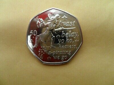 PETER PAN 50p CAPTAIN HOOK 90th ANNIVERSARY NEW RELEASE UNCIRCULATED