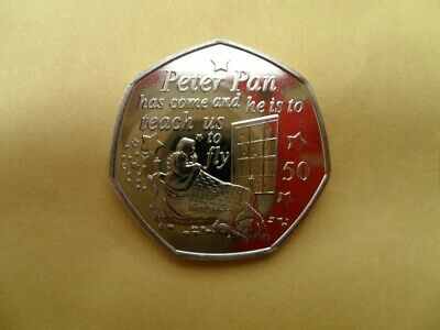 Peter Pan 50p coin- Uncirculated Wendy & Nanna 'Peter Pan has come...