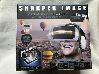 Sharper Image - Virtual Reality Headset - With Built In Headphones New