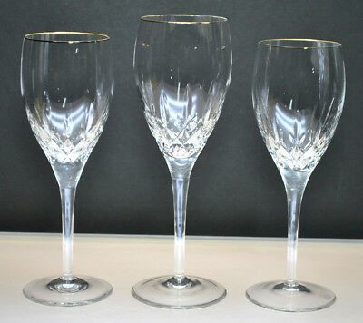 """Rogaska """"Memoir Gold"""" Wine Glasses And Water Goblet (3-Piece Set) Discontinued"""