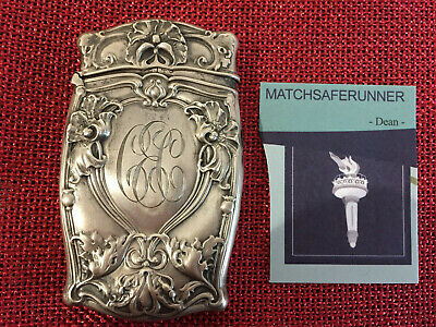 American Sterling Silver Gorham Match Holder Vesta Case Match Safe Striker
