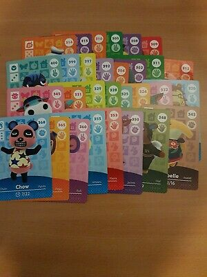 animal crossing new leaf welcome  amiibo cards lot 2 of 30 cards