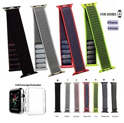 Replacement Sport Loop Nylon Woven Band for Apple Watch Series 4 40mm/44mm