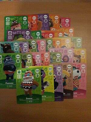animal crossing new leaf welcome  amiibo cards lot 3 of 30 cards