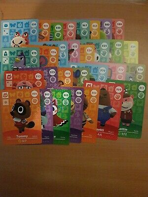 animal crossing new leaf welcome  amiibo cards lot 4 of 30 cards