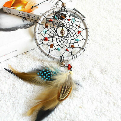 Small Feather Handmade Dream Catcher Car Wall Door Hanging Decoration Ornam S2X0