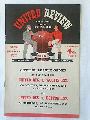 1954/5 Manchester United V Charlton Athletic