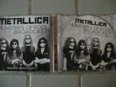 Metallica Monsters Of Rock Broadcast 1991 Cd Rare Live In Moscow