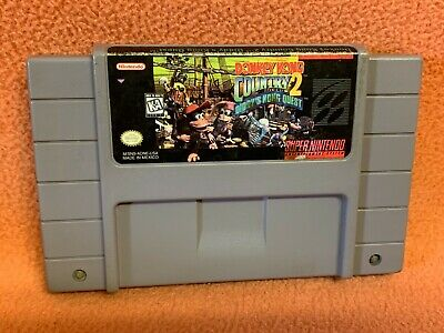 Donkey Kong Country 2 DK Super Nintendo SNES Original Authentic Game!