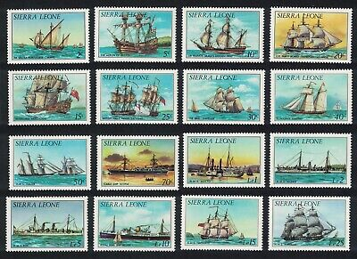 Sierra Leone History of Shipping 1st series without imprint 16v COMPLETE MNH