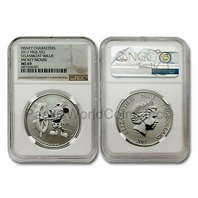 Niue 2017 Disney Characters Mickey Mouse $2 1 oz Silver NGC MS69 SKU#7399