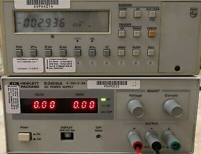 HP Agilent E3615A DC 0-20V 0-3 Amp Single Output Benchtop Power Supply Tested