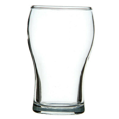48x Crown Commercial Washington Beer Glass 425mL Middy Half Pint Ale Lager
