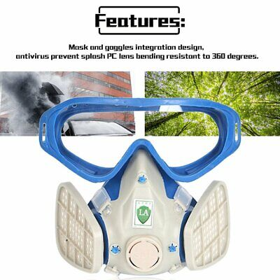 Full Face Respirator Gas Mask With Goggles Paint Chemical Protective Mask ZL