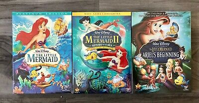 The Little Mermaid, Ariel's Beginning, Return To Sea Trilogy NEW FREE SHIPPING