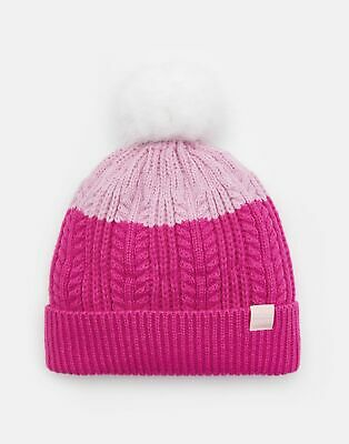 Joules Girls Bobble Hat in PINK