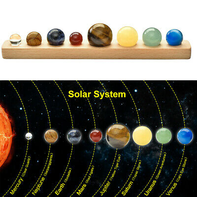 US Natural Stone Round Bead Home Planets Home Decor Universe Solar System Galaxy