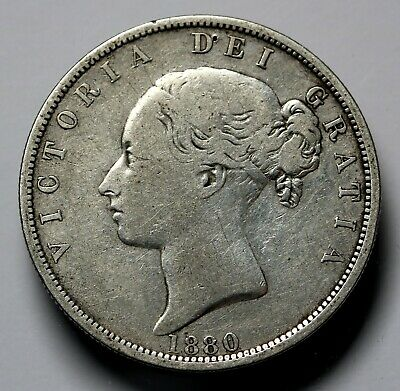1880 UK Great Britain Silver Halfcrown Coin Queen Victoria KM# 756, Sp# 3889