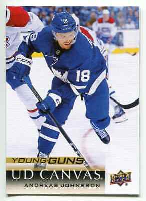 2018-19 Upper Deck Canvas Young Guns Andreas Johnsson Toronto Maple Leafs