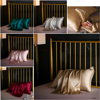 Soft 100% Mulberry Pure Silk Pillowcase Covers Queen Silk Anti-Ageing Beauty NEW