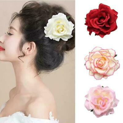 Large Rose Flower Hair Clip Bridal Hairpin Brooch Wedding Accessory Bridesm L5Z1