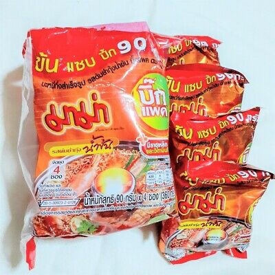 MAMA Instant Noodles Shrimp Creamy Tom Yum Flavour Big Pack /Set of 4 Pcs./ 360g