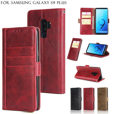 Stand Flip Card Slot Leather Wallet Case Cover For Samsung S9 Plus S7 S8 Note 9
