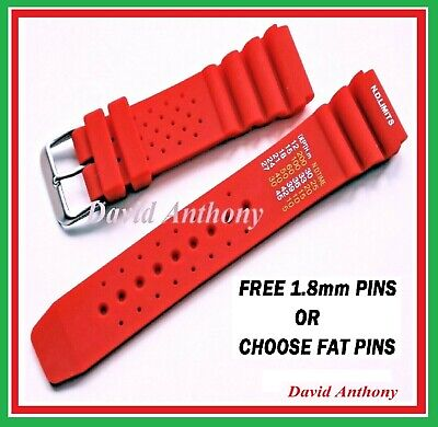 20Mm 22Mm 24Mm Red Nd Time N.d. Limits Divers Watch Strap Polyurethane Rubber