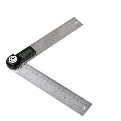 360° Portable Digital Protractor Angle Finder Stainless Steel Ruler 0-200mm Tool