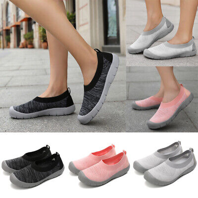 Women Breathable Mesh Athletic Shoes Ladies Slip On Casual Sneakers Trainers