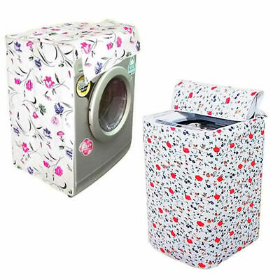 Waterproof Zippered Washing Machine Cover Dust Guard Dustproof Dryer Protes J0R2