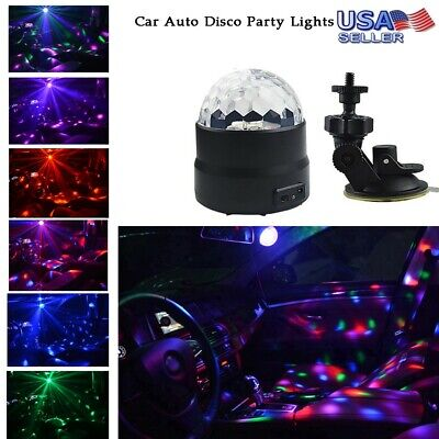 Car Auto Disco Party Lights Strobe LED Dj Ball Sound Bulb Dance Light Lamp USA