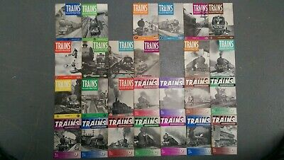 Trains, illustrated in original packaging: 26 issues 1-16 and Jan-Dec, 2 missing