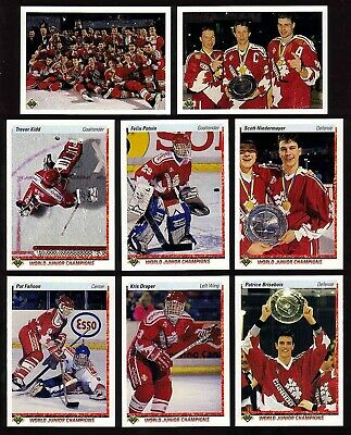 1990-91 Upper Deck World Juniors TEAM CANADA SET Eric Lindros ER Felix Potvin RC
