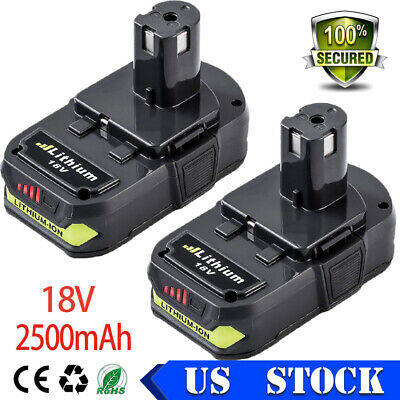 2X18V 2.5Ah For Ryobi Battery Lithium One+P108 P107 P100 P122 P104 P105 P106 NEW