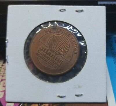 Vintage Atlantis Casino Gaming 25c Token - Atlantic City NJ