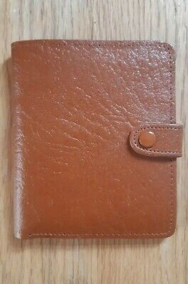 Vintage Silk Lined Tan Real Leather Gentleman's Wallet Made in England