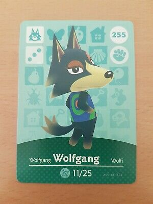 animal crossing new leaf welcome  amiibo card Wolfgang 255