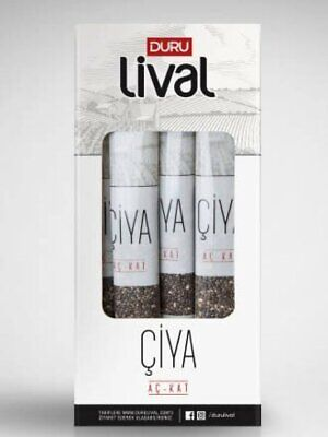 10 x 8g Duru Lival Chia Seed  Perfect Single Use Black Chia Seed Open and Put in