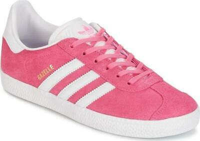 Adidas gazelle girls womens trainer shoe by9145 sport new pink/white uk 4 - 6.5
