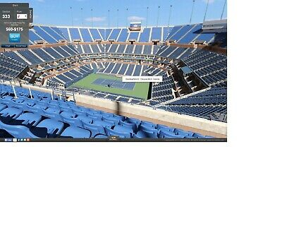 US OPEN TENNIS 08-31-2019 Sat. night 7PM Session 12  Two Tickets