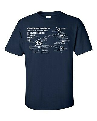 Not Just Nerds John F Kennedy Moon Speech X NASA Apollo 11 Mission Plan T-Shirt