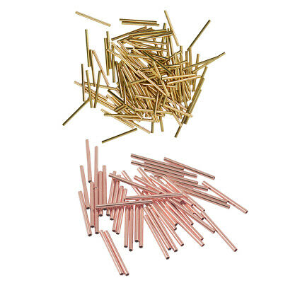 Lots 100pcs Gold Rose Gold Plated Tube Spacer Loose Beads Charms 20x1.5mm