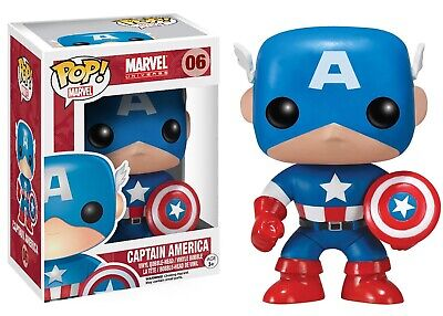 "Pop! Marvel Universe #06: Captain America 3.75"" Vinyl Bobblehead Figure"